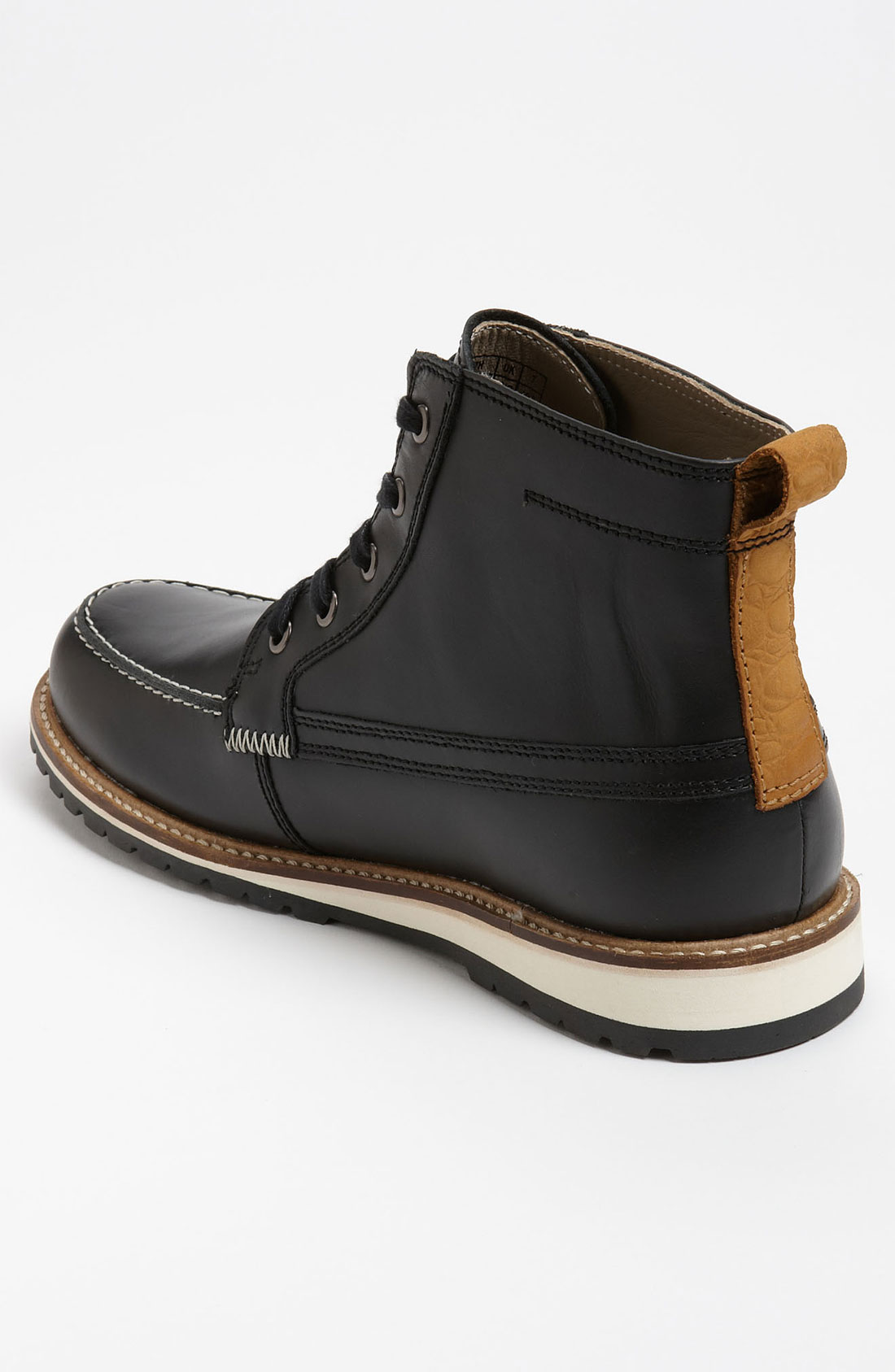lacoste marceau 3 boot in black for lyst