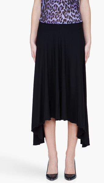 See By Chloé Asymmetric Hem Skirt  in Black (b)
