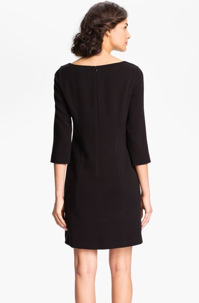 Eliza J Keyhole Neck Knit Shift Dress In Black Lyst
