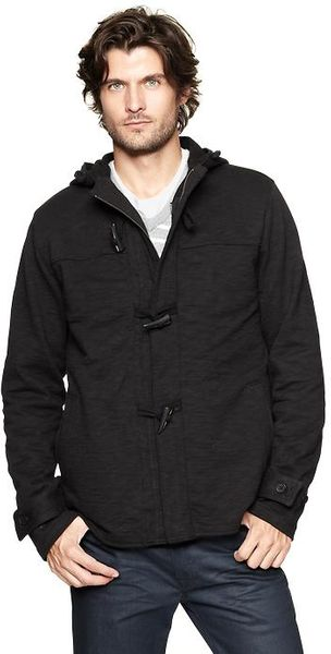 Gap 2in1 Toggle Hoodie in Black for Men (true black) | Lyst