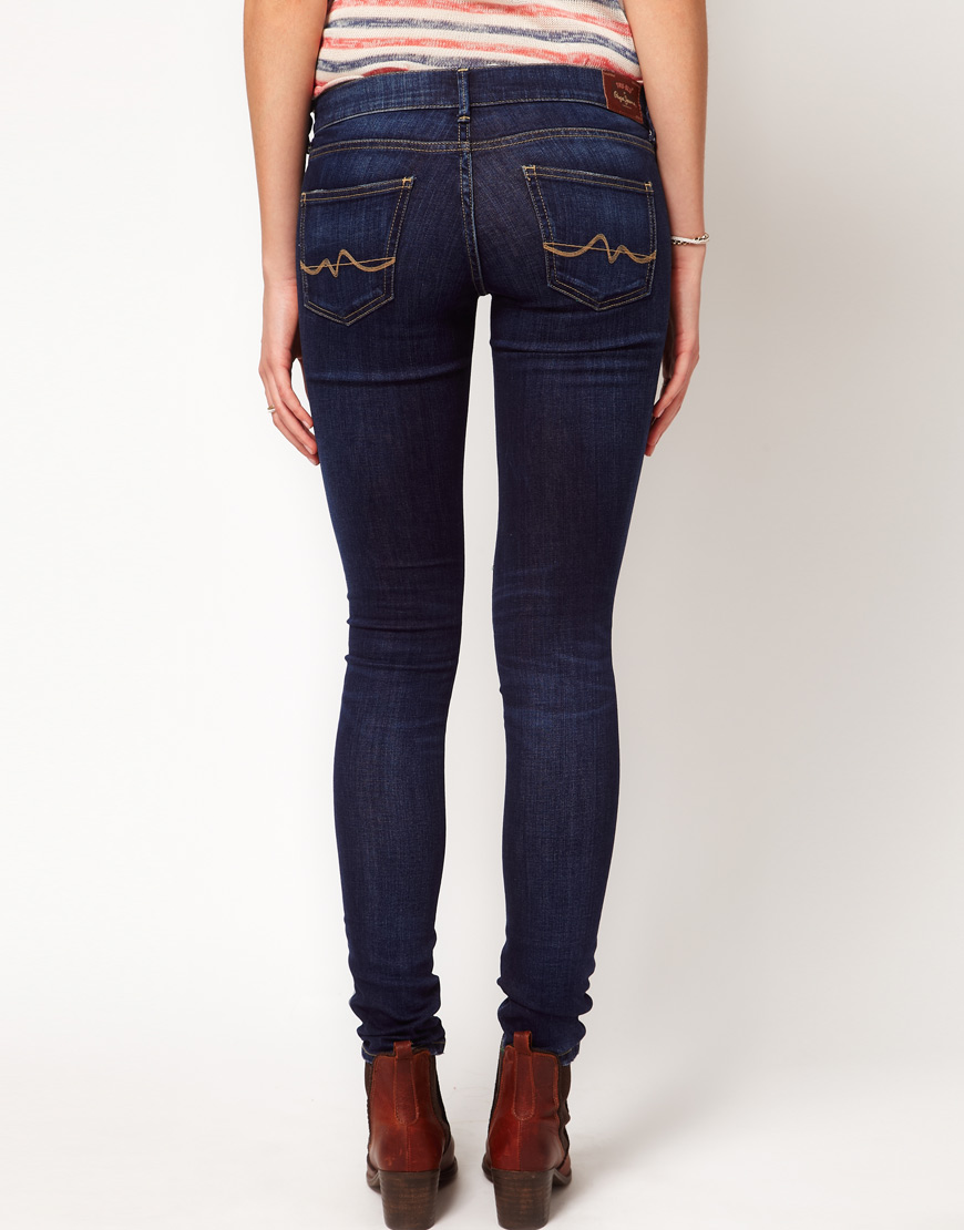 3b01e37dce81 Lyst - Pepe Jeans Pixie Skinny Jeans in Blue