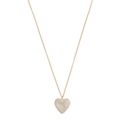 Lyst jew pav heart pendant necklace gallery aloadofball Image collections