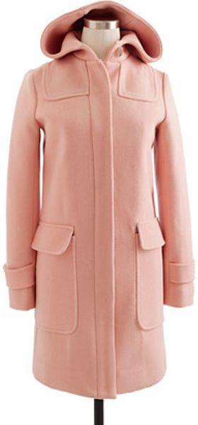 J Crew Stadiumcloth Duffle Coat In Pink Light Nectar Lyst