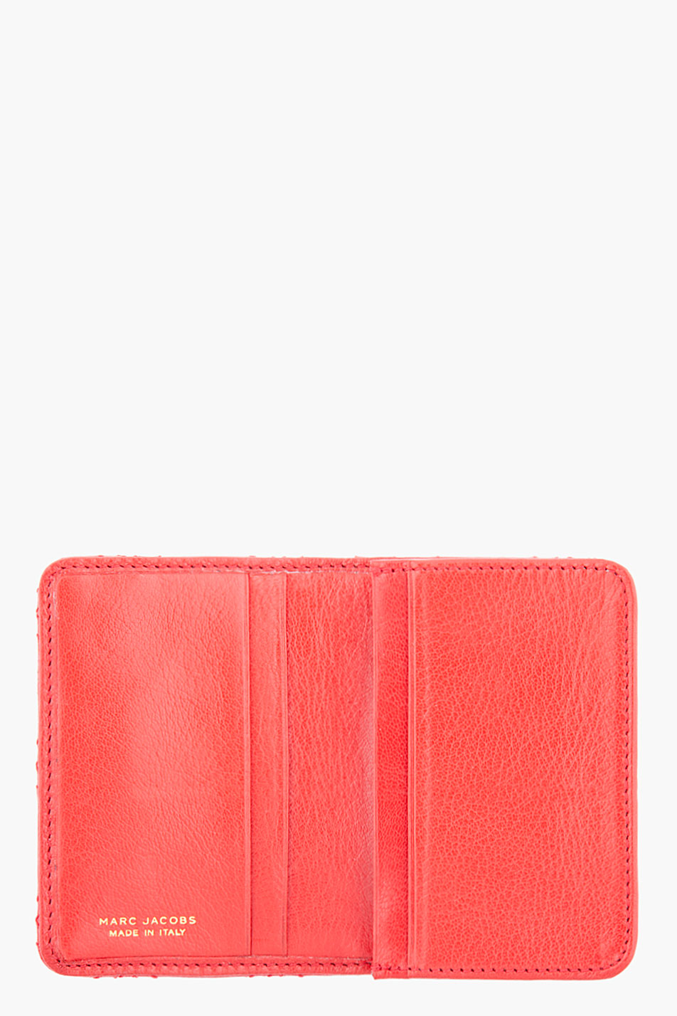 Lyst marc jacobs quilted red leather business card holder in red gallery colourmoves