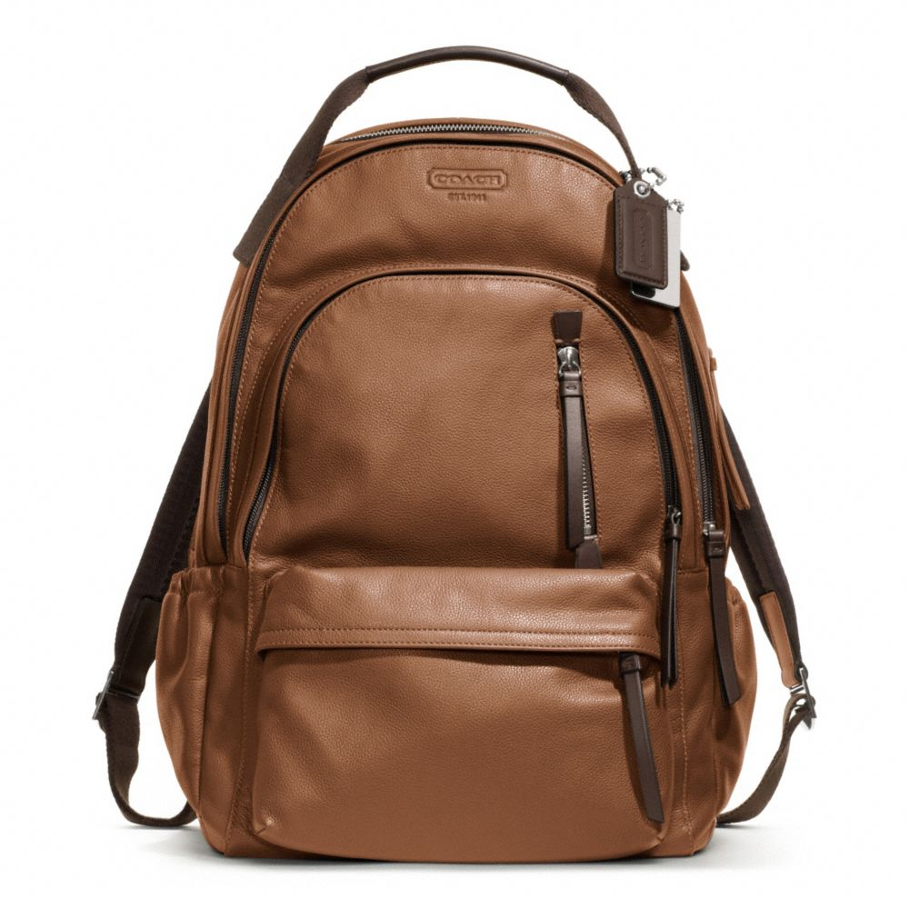 Coach Thompson Leather Backpack in Brown for Men | Lyst