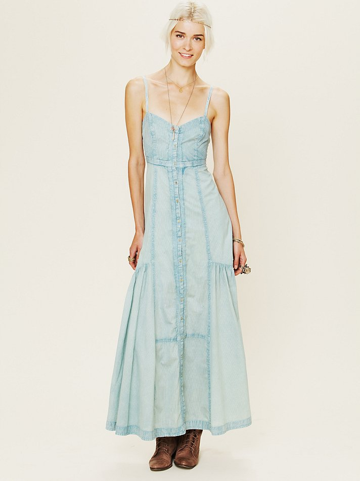 Lyst - Free People New Romantics Hearts Aflame Maxi Dress in Blue