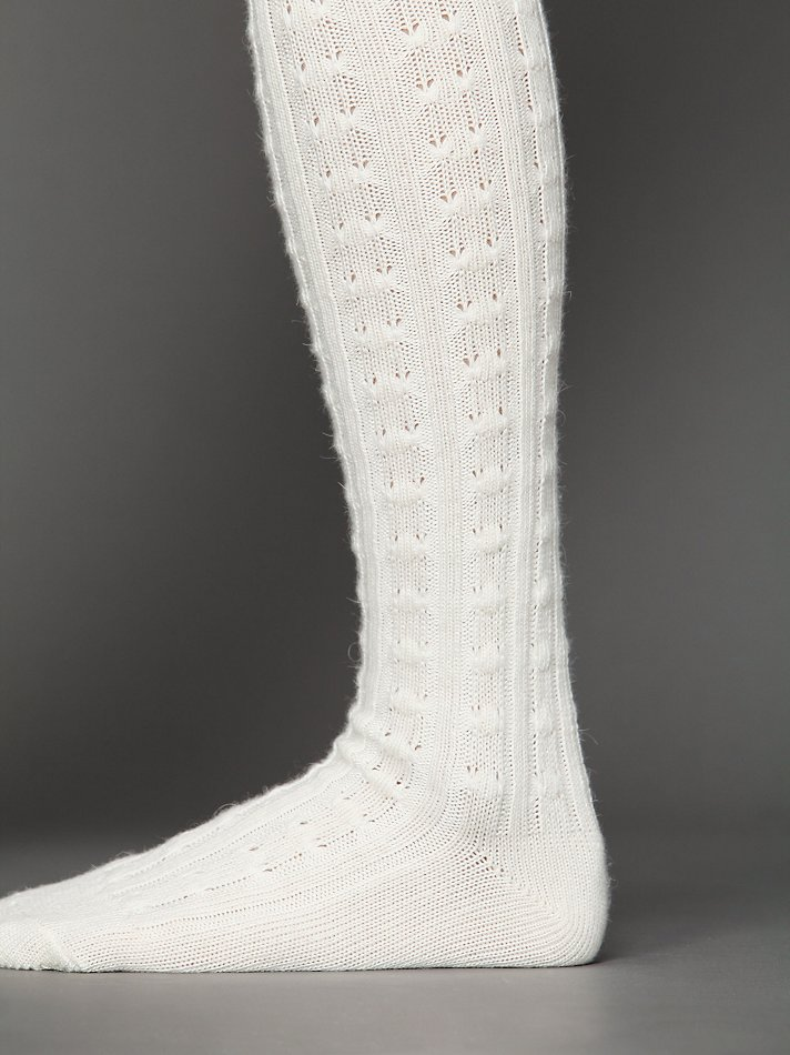 113380f93 Free People Popcorn So Soft Thigh High Socks in White - Lyst
