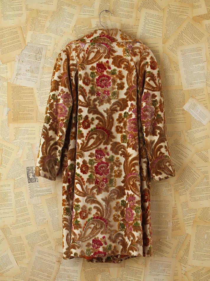 Lyst Free People Vintage Floral Patterned Tapestry Coat