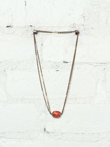 Free People Vintage Stone Cold Necklace in Multicolor (multi)