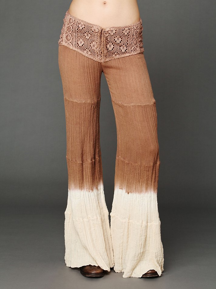 Lyst Free People Corset Tiered Gauze Pant In Brown