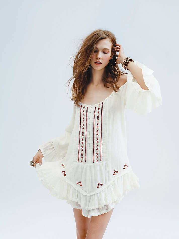 911288cede2 Lyst - Free People Livin Slip Dress in White