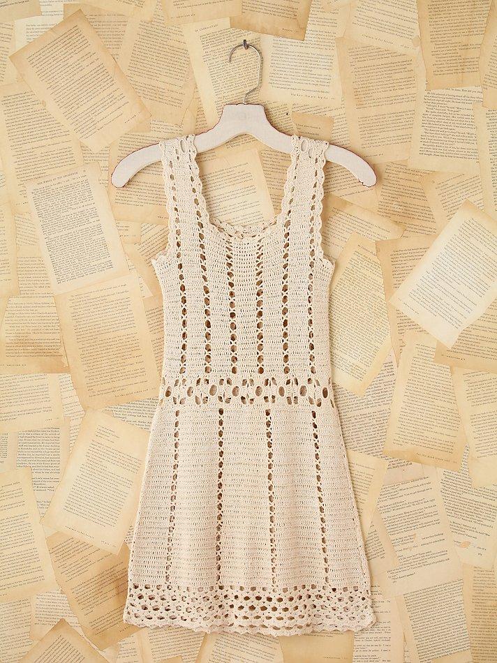Lyst Free People Vintage Crochet Mini Dress In White