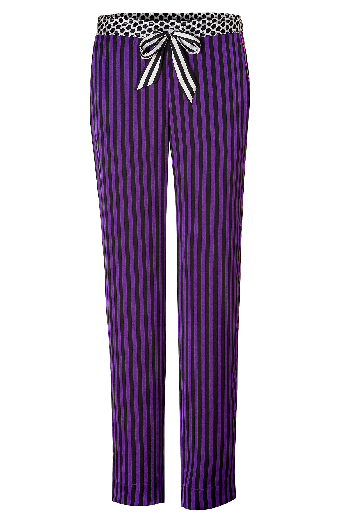 Juicy Couture Winter Irisblack Striped Pant with Contrast ...