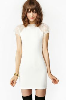 Nasty Gal Jagged Lace Dress - Lyst