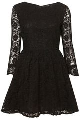 Topshop Crochet Lace Flippy Dress