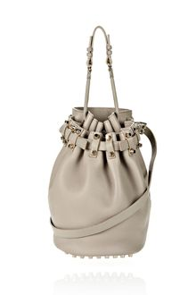 Alexander Wang Diego in Oyster Soft Pebble Leather with Pale Gold - Lyst