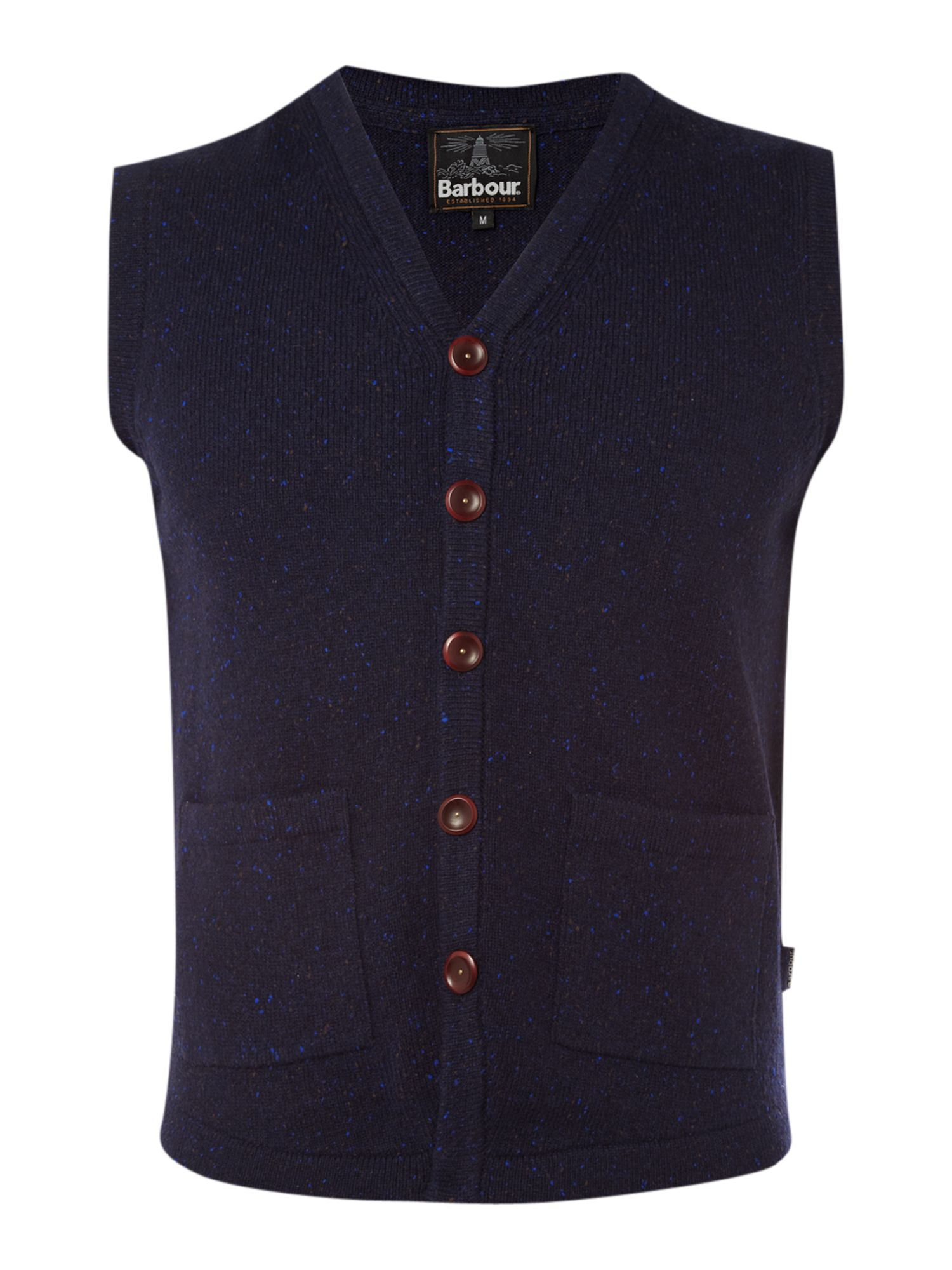 Lyst Barbour Tyning Merino Knitted Waistcoat In Blue For Men