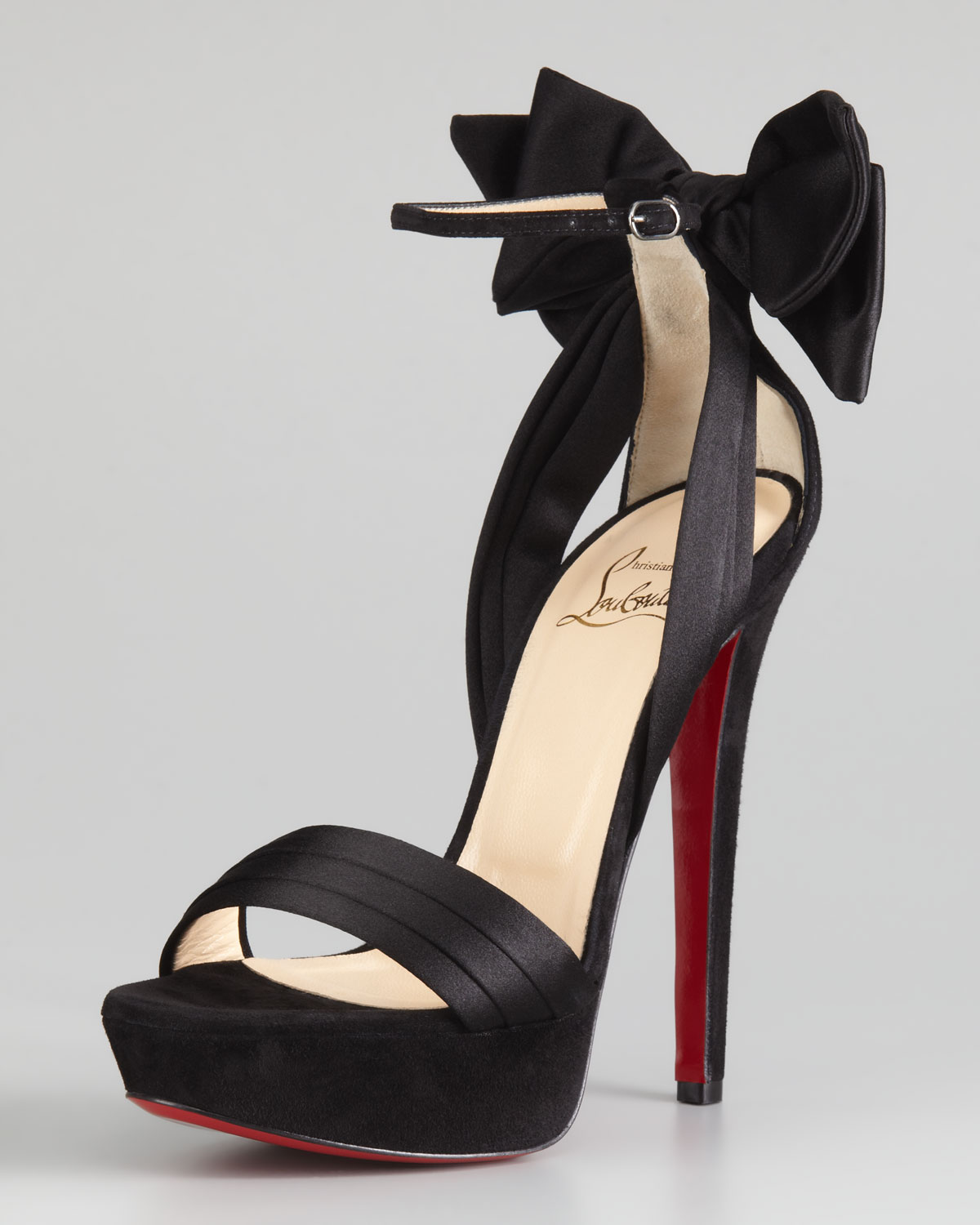 christian louboutin bow sandals