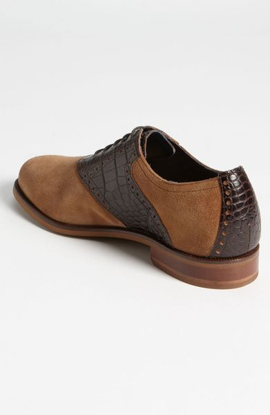 Cole Haan Carter Saddle Shoe in Brown for Men (tmoro crocodile print