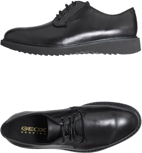 Geox Laceup Shoes in Black for Men