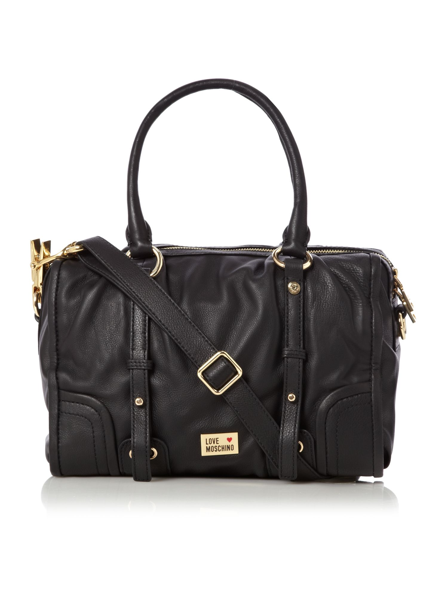 love moschino classic bowling bag in black lyst. Black Bedroom Furniture Sets. Home Design Ideas