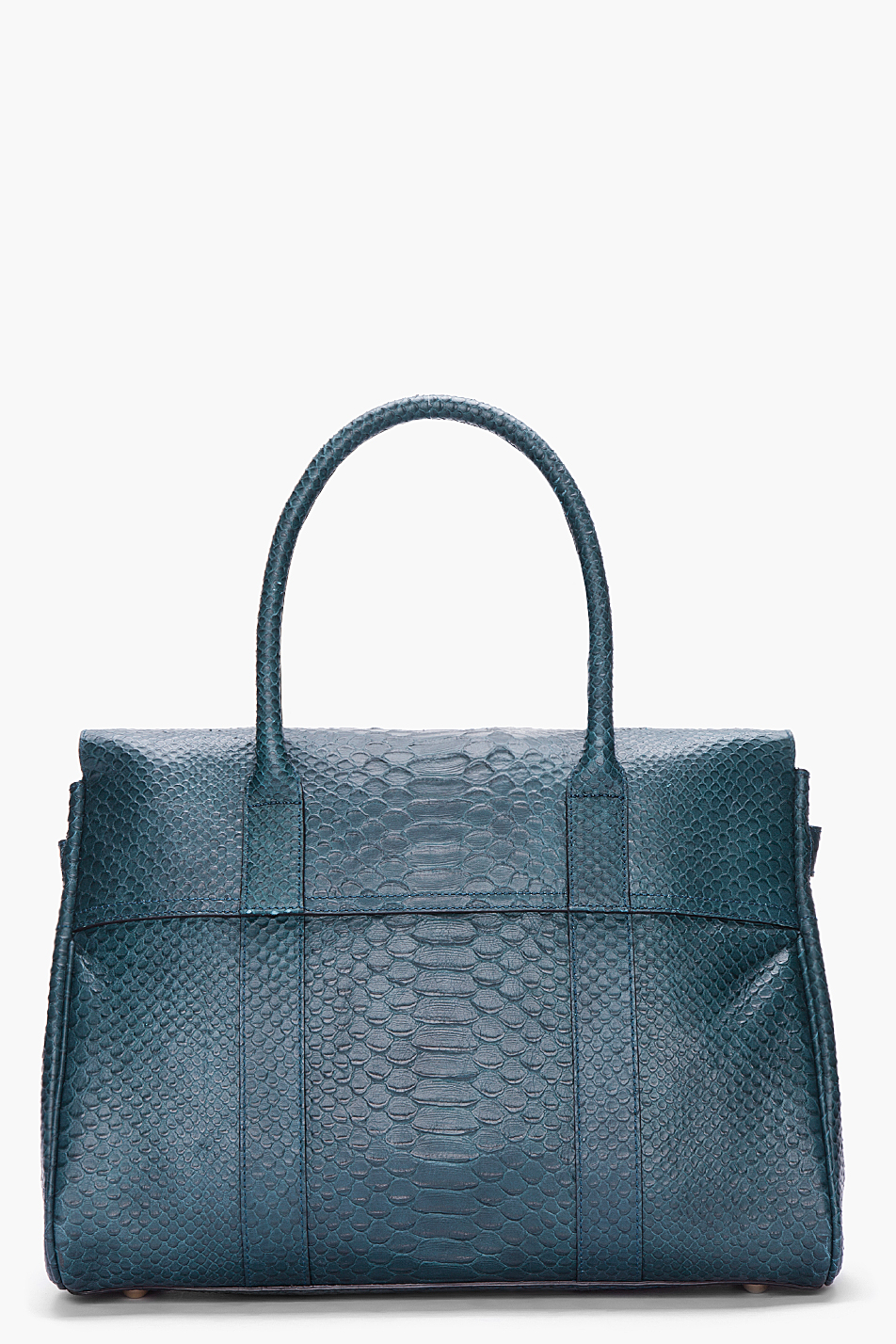 ... best lyst mulberry bayswater silky snake print tote in blue 93838 8d5fa 5ea708574c1f6