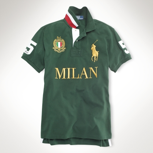0a0e2733 ... australia lyst polo ralph lauren classic fit big pony city polo in  green for men d2ec5