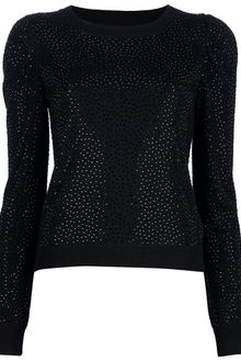 Alice + Olivia Embellished Sweater - Lyst