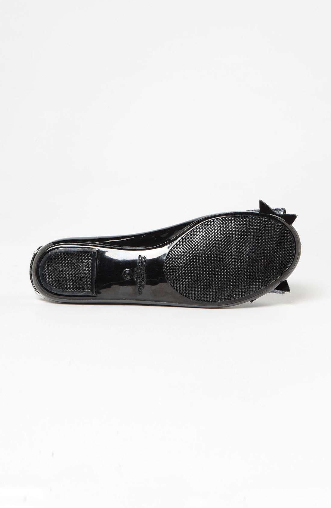 Black Ted Baker Shoes With Glitter Silver Bow