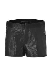 Theyskens' Theory Black Leather Paluccia Shorts - Lyst