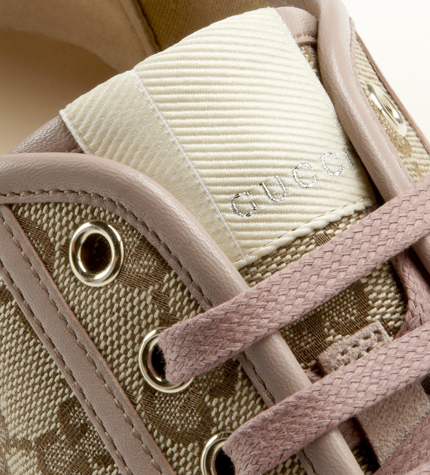 9380fd8eed0c82 Lyst - Gucci California Original Gg Canvas Lowtop Sneaker in Brown ...