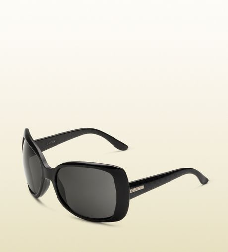 Gucci Womens Large Rectangle Sunglasses in Black