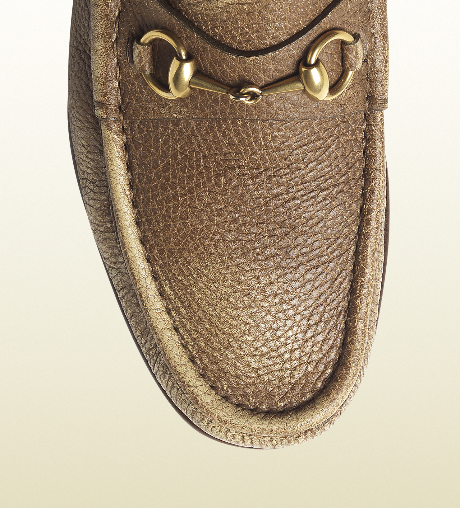 1dc371776ad Lyst - Gucci Cream and Maple Brown Shaded Leather Horsebit Loafer in Brown  for Men