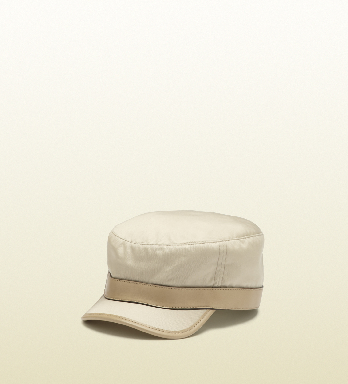 Lyst - Gucci Pale Khaki Cotton Army Hat in Natural for Men 038ad9ccd7b