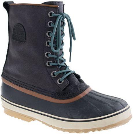 crew Sorel Premium T Canvas Boots in Black for Men (black dark green