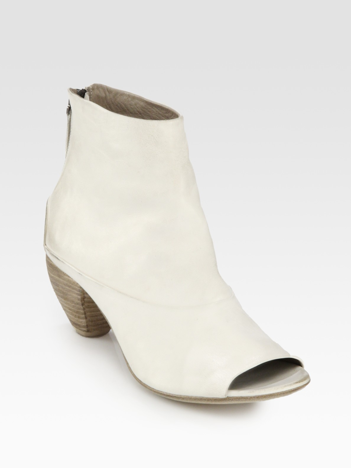 Marsèll Leather Ankle Boots in Natural | Lyst