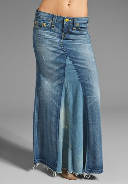 true religion dakota haight skirt in blue falling