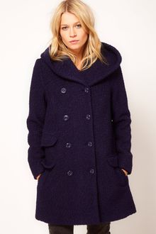 ASOS Collection Asos Hooded Db Coat - Lyst
