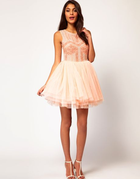 Asos Prom Dress With Embellished Bodice in Pink