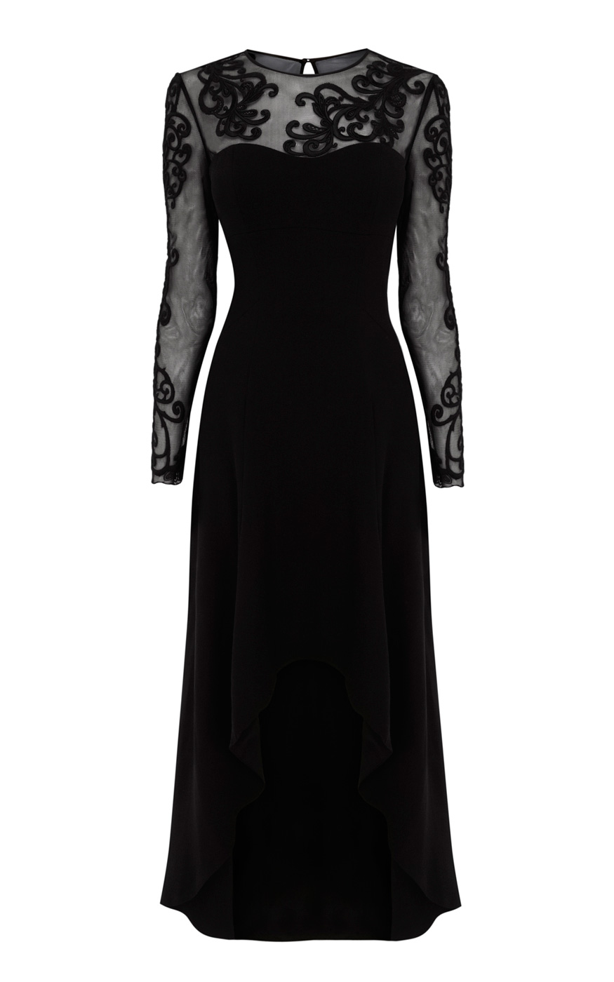 Luxury Vintage Grace Woman Long Black Dress Backless Lady Sexy Evening Party Dresses A086-in Dresses ...