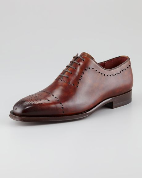 Magnanni For Neiman Marcus Medalliontoe Oxford in Brown for Men (null
