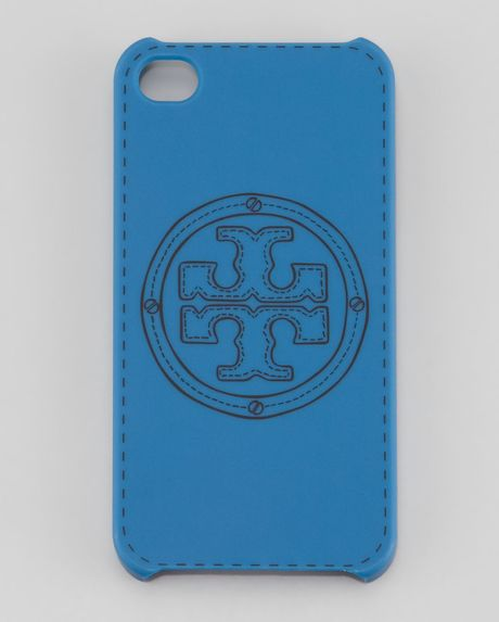 Tory Burch Stackedlogo Phone Case in Blue (deep sky)