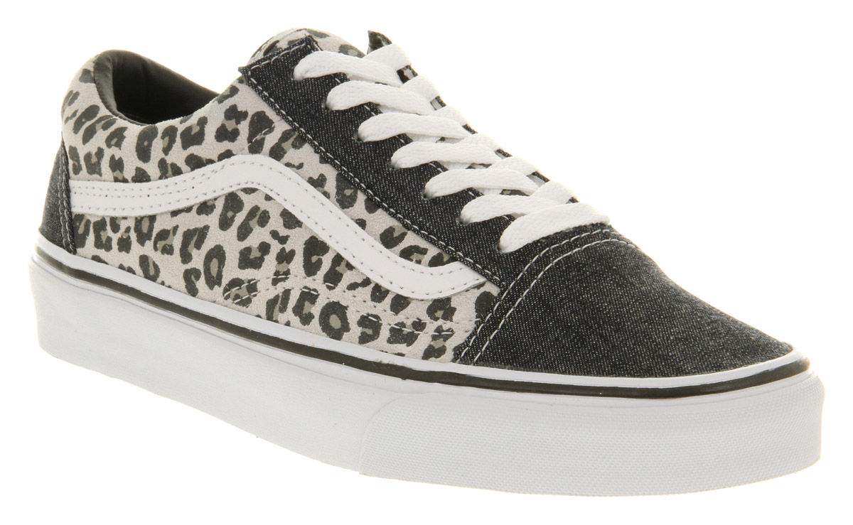 old skool leopard vans girls