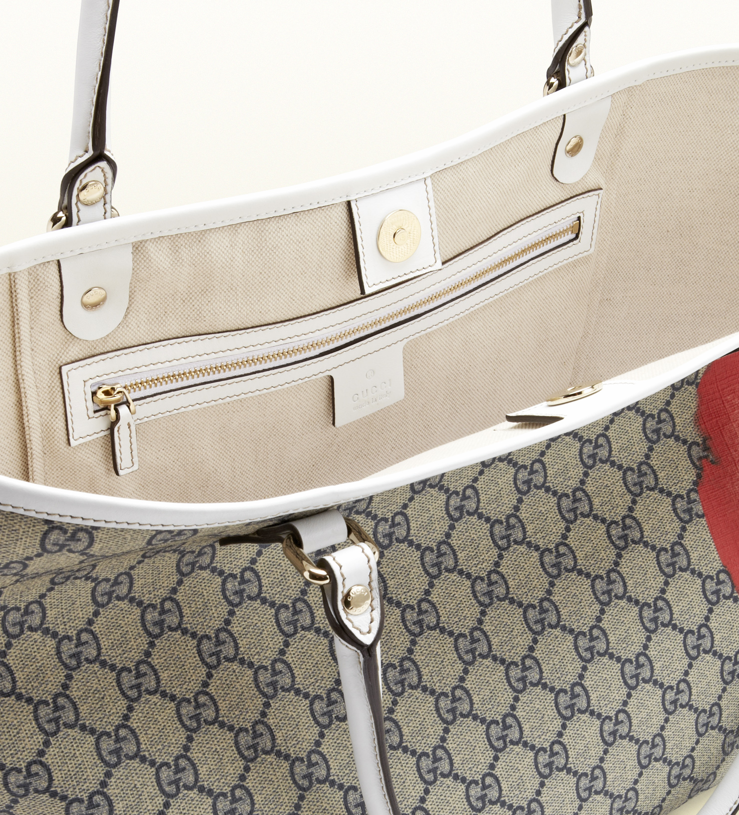 520c53f1a095 Gucci Canada Gg Flag Collection Tote in Gray - Lyst
