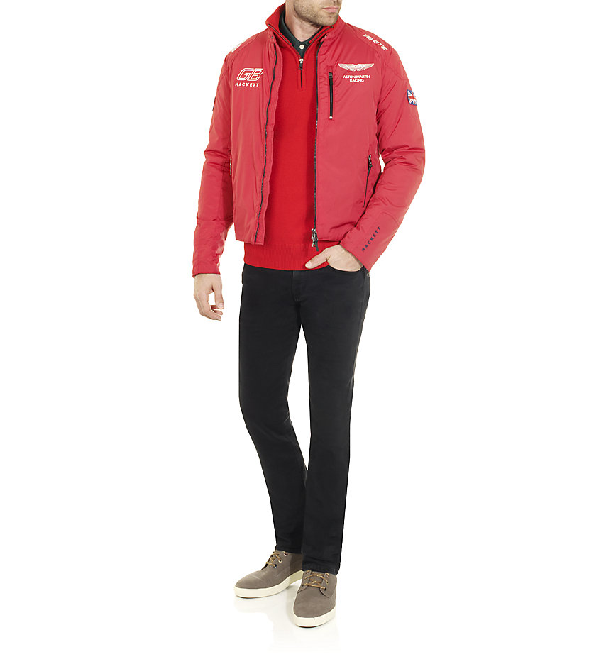 Hackett Aston Martin Racing Jacket In Red For Men Lyst