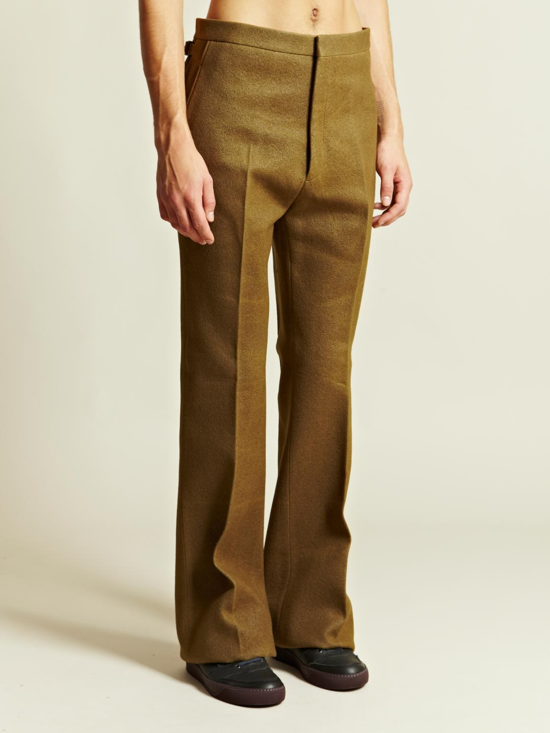 Lyst Lanvin Lanvin Mens Large Flare Trousers In Natural