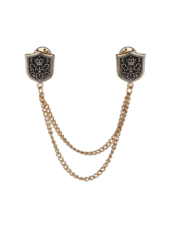 Topman Shield Chain Collar Tips in Gray for Men (metallic ...