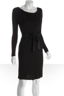 Black Wrap Dress on Bcbgmaxazria Black Black Stretch Jersey Wrap Back Cowl Dress Product 1