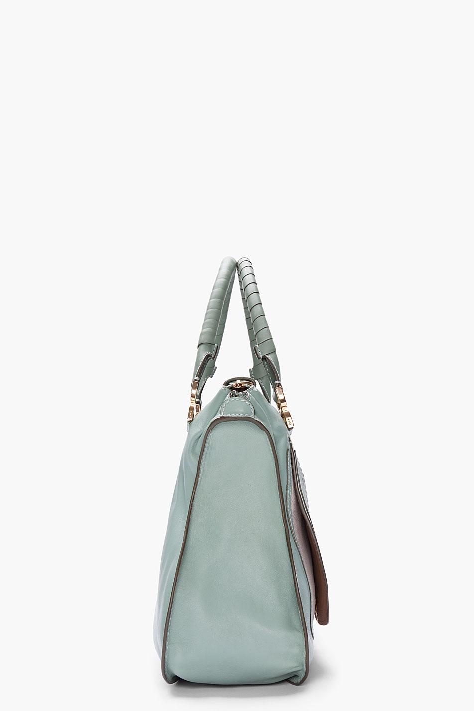 Chlo¨¦ Seafoam Green Leather Marcie Bag in Green | Lyst