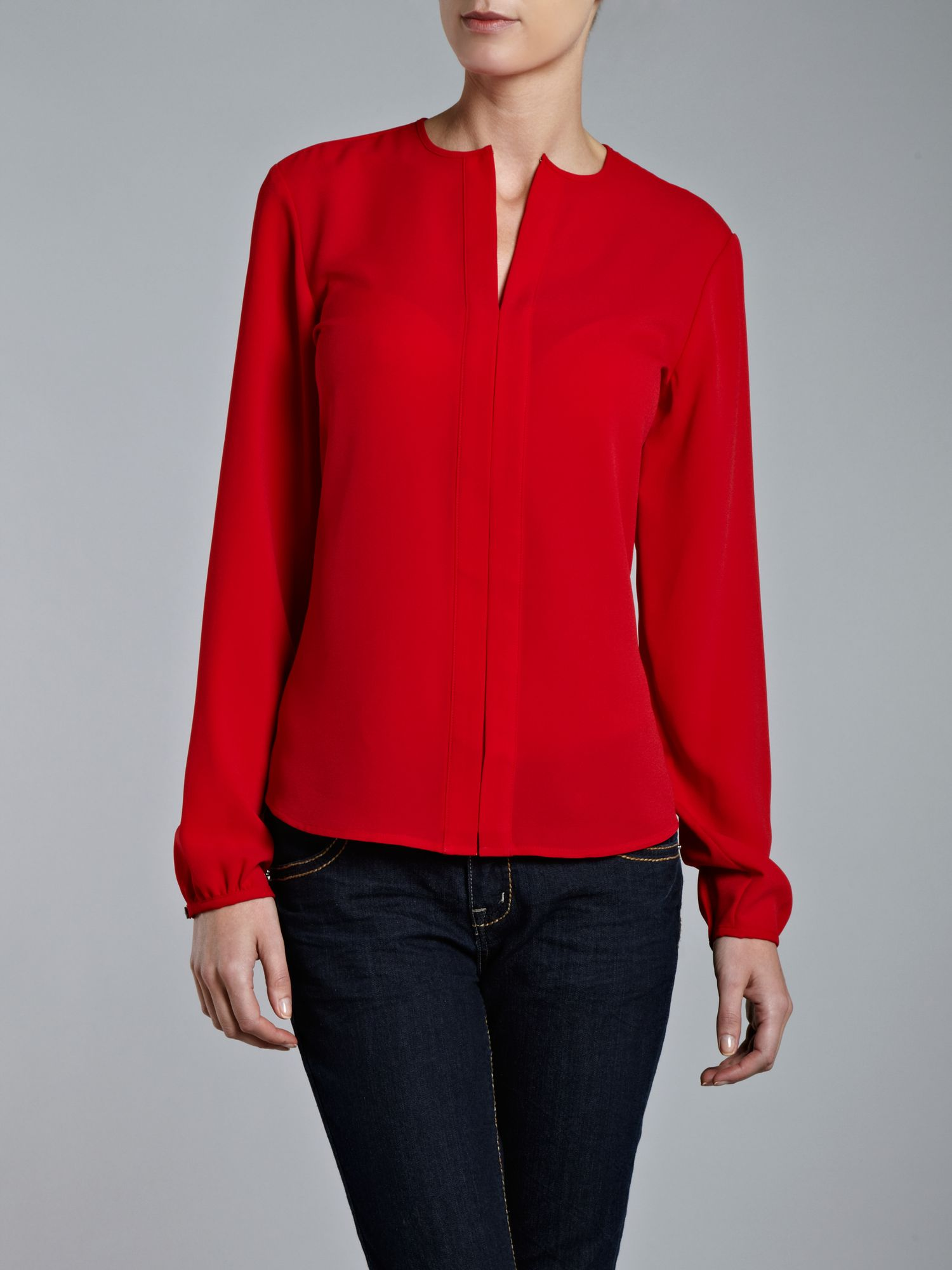 Red Chiffon Blouses. Women Round Neck Chiffon Comfort Tank Top Blouse Red. Product Image. Price $ Product Title. Women Round Neck Chiffon Comfort Tank Top Blouse Red. Add To Cart. There is a problem adding to cart. Please try again. Product - Sexy V Neck Loose Long Sleeve Chiffon Shirt Pocket Top Plus Size Women Blouse. Product.